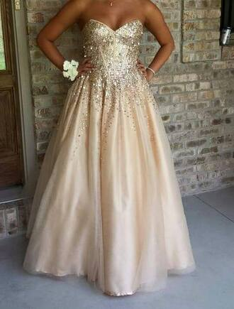 dress gold dress prom dress ball gown champagne dress corset dress lace up