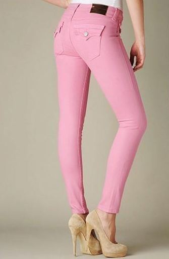 True Religion Women's Halle Super Skinny Legging Jeans pink for sale