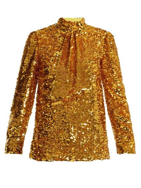 MSGM top embellished top embellished gold