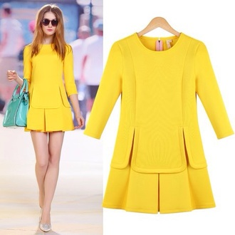 dress yellow runway preppy preppy dress