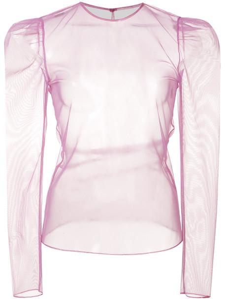 Fleur du Mal top women spandex purple pink