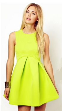 Pleata Skater Dress - Juicy Wardrobe