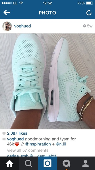 shoes nike blue green pastel pale sports trainers