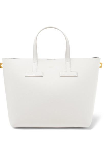 mini leather white bag