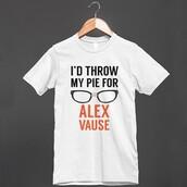 t-shirt,alex vause,orange is the new black,oitnb,glasses,lgbt,throw,pie,i threw my pie for you,crazy eyes,netflix,tv,gay pride,5sos top,calum hood
