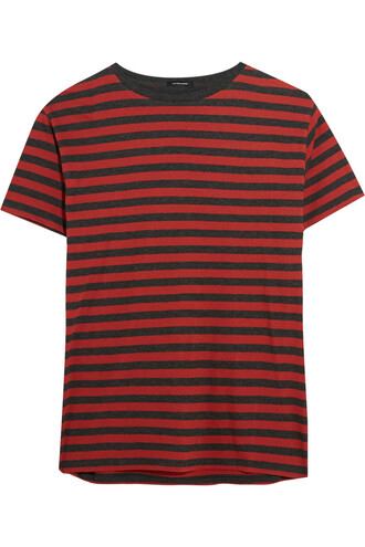 t-shirt shirt cotton red top