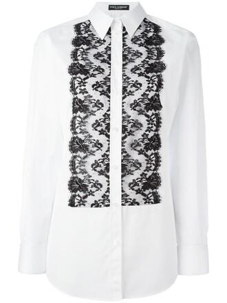 shirt women lace cotton black top