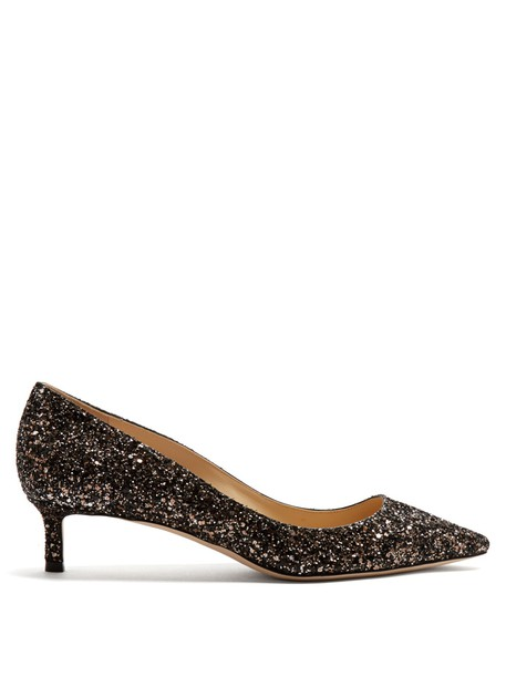 Jimmy Choo glitter pumps silver black shoes