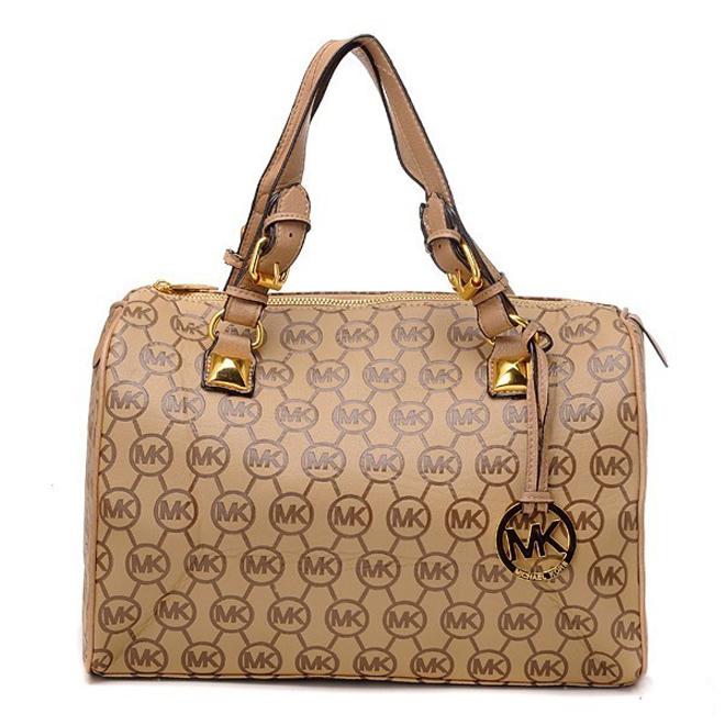 Michael Kors Grayson Monogram Large Brown Satchel Bag