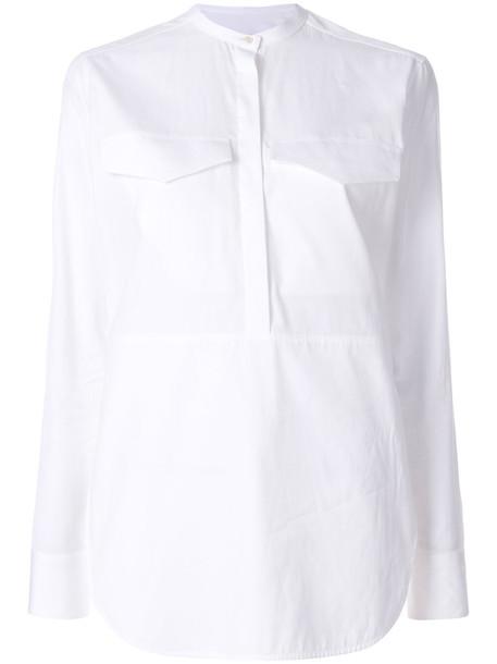CALVIN KLEIN 205W39NYC blouse women white cotton top