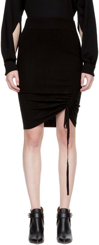 miniskirt black skirt