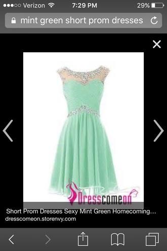 dress mint green prom dress