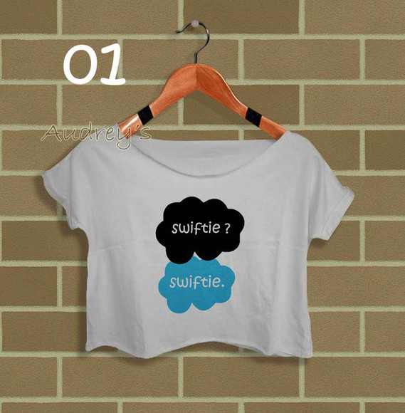 american apparel fashion crop tops music shirt taylor swift swifty swift crop tee crop tee and skirt womens clothing girl clothes cute
