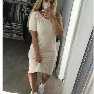 dress white t-shirt white dress