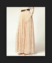 skirt,maxi,floral,maxi skirt,floral maxi skirt,light pink,light pink skirt,ditsy floral