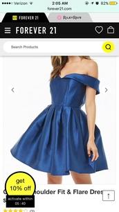 dress,forever 21,blue,formal dress,short