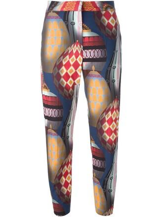 women cotton print pants