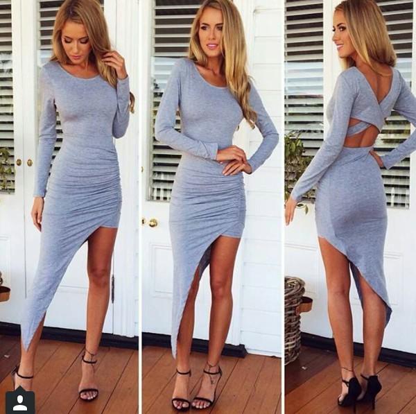 dress grey dress maxi dress