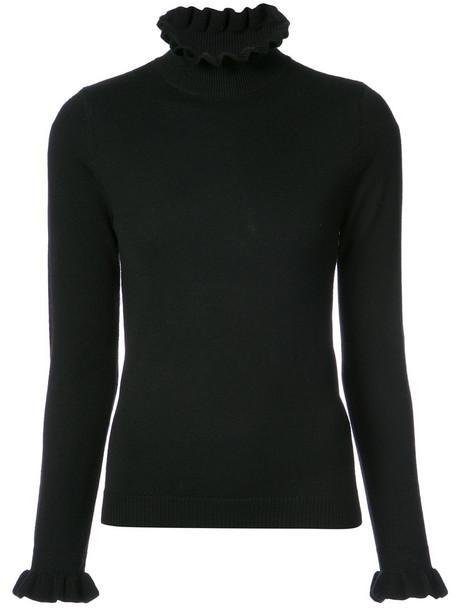 Shrimps sweater women black wool