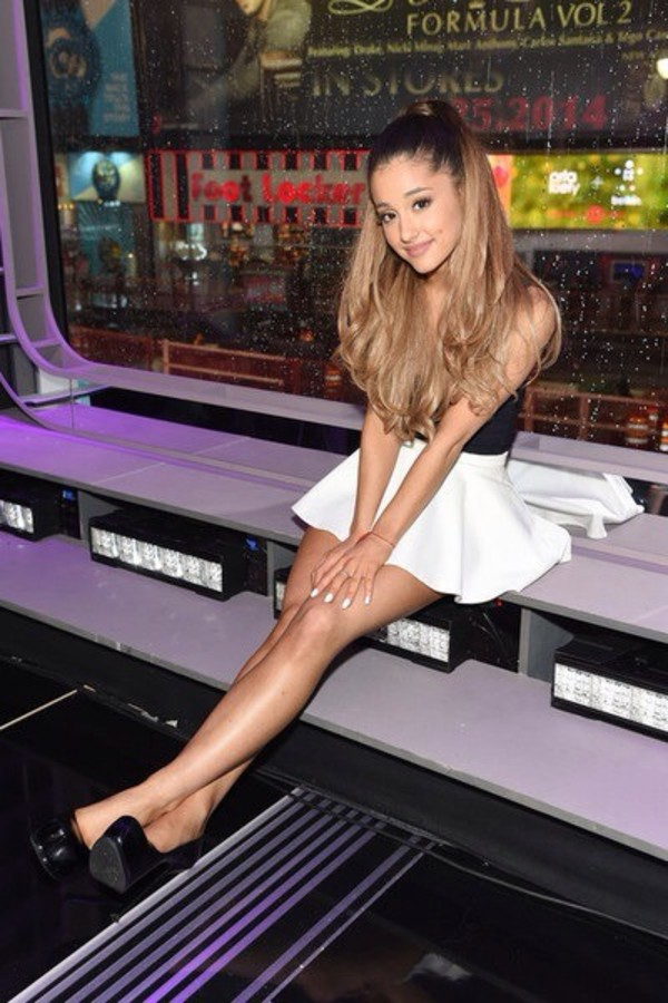 shoes ariana grande high heels skirt