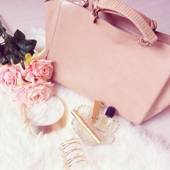 bag pink bag outfit