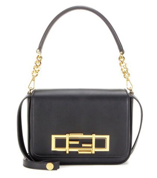 Fendi bag shoulder bag leather black