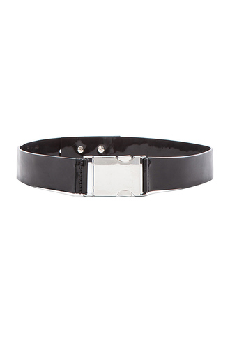 belt patent leather david koma black belt