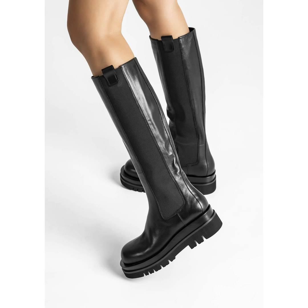 Becky Black Venice Calf Boots