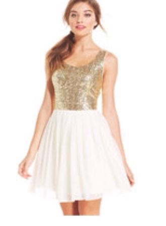 dress white dress gold sequins gold dress short white dress little white drees