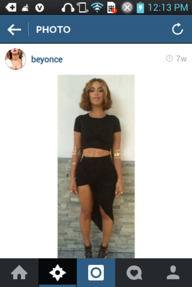 beyoncé black skirt