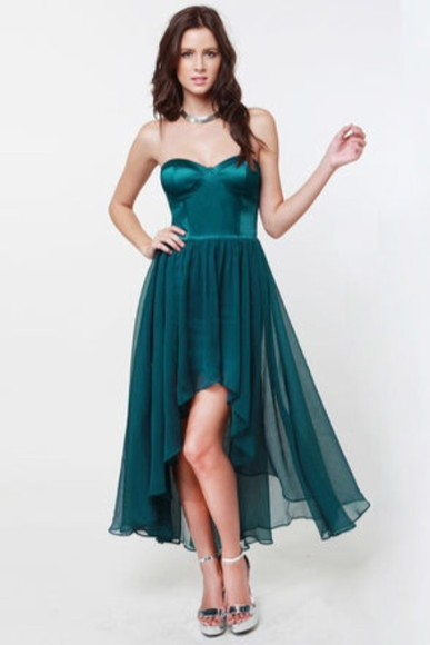 dress summer dress prom dress teal dress evening dress teal mid-hem dress