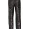 Slashed cutout leather pants   moda operandi