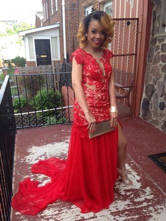 dress red dress prom dress ball gown dress evening dress starry night