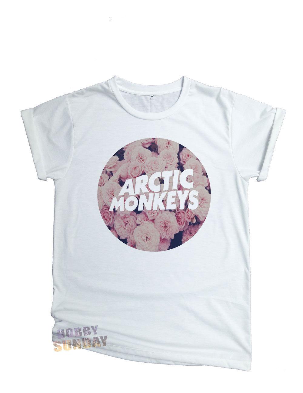 Arctic monkeys floral vintage band indie rock t