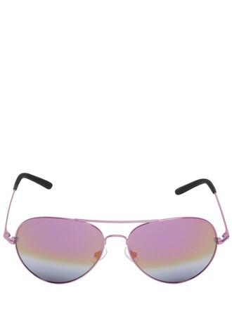 metal sunglasses aviator sunglasses pink