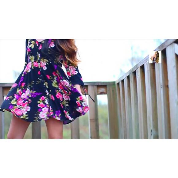 long sleeve dress floral dress