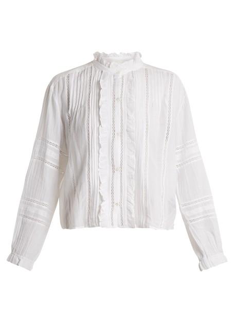Isabel Marant etoile blouse lace cotton white top