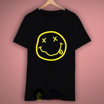 Nirvana Smile Face T Shirt – Mpcteehouse.com