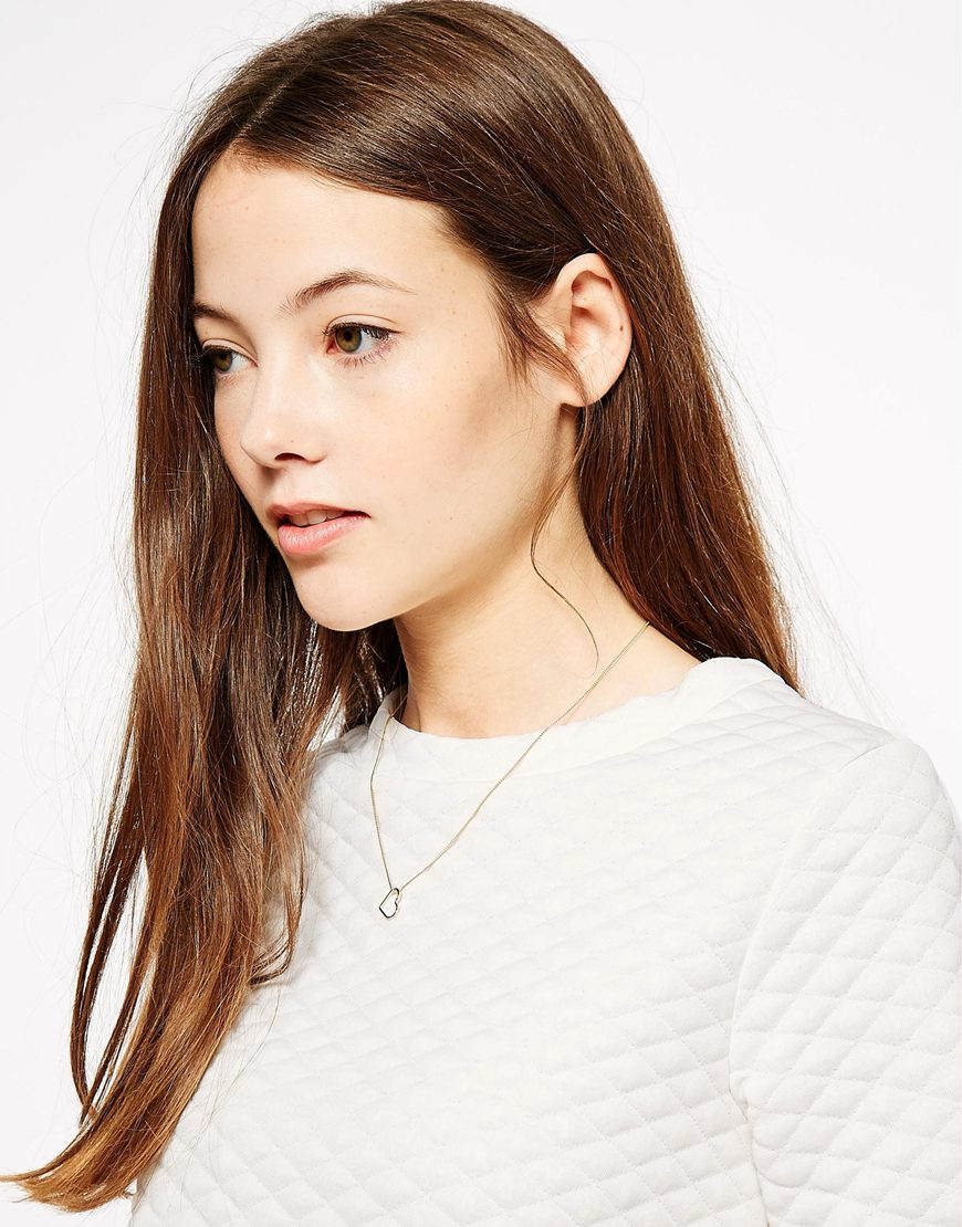 Orelia Open Heart Necklace Gift Card at asos.com
