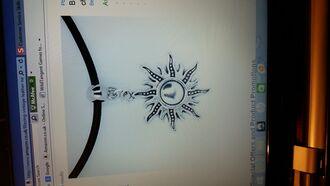 jewels choker necklace yin yang blazing sun black leather