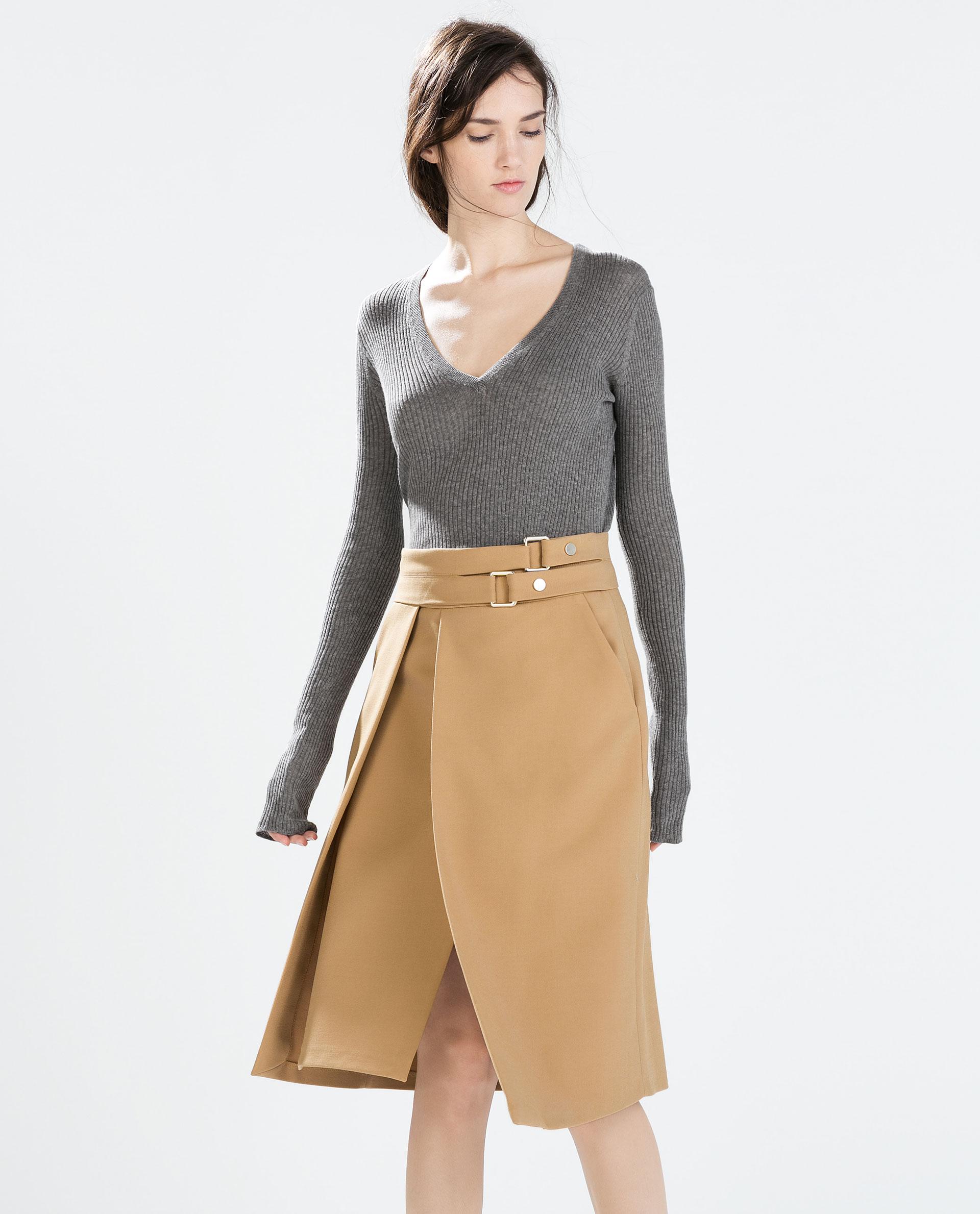 BUCKLE SKIRT - Skirts - WOMAN | ZARA United States