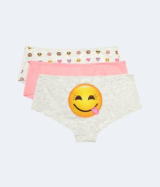 underwear smiley emoji print panties