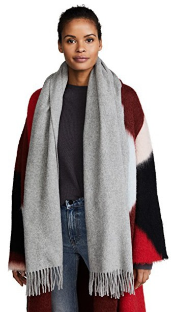 Acne Studios scarf light grey
