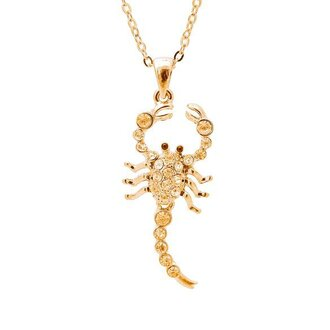 jewels necklace gold necklace scorpion