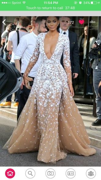 dress nude dress long prom dress lace dress