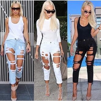 jeans kadore ripped jeans high waist distressed jeans black jeans white jeans boyfriend jeans