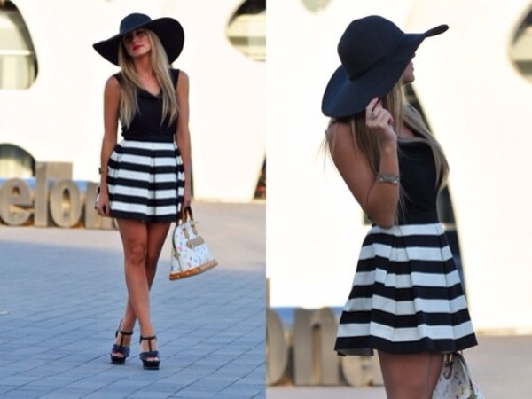 skirt stripes stripes navy