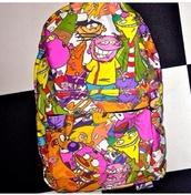 bag,cartoon,90s style