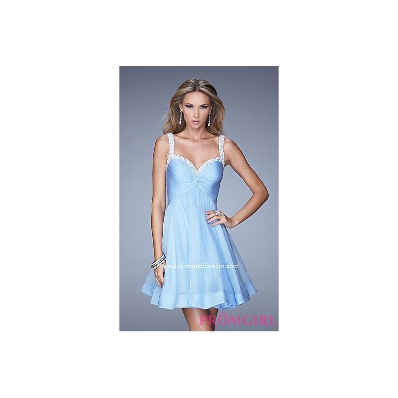 LF-20677 - Short A-Line Sweetheart La Femme Dress - Bonny Evening Dresses Online