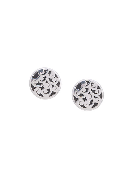 mini women earrings silver grey metallic jewels